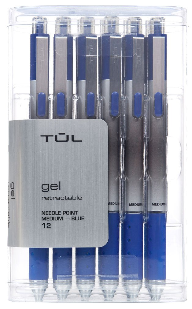 TUL GL1 Gel Pen Retractable Needle Point Medium 0.7mm, Blue 12/pk + ''IdeaPad'' Post-It Notes (200-ct) Bundle by TUL (Image #2)