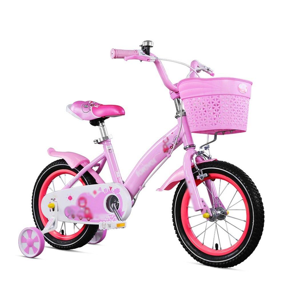 赤ちゃん少女ピンクブルーベビーカー学生ペダル自転車子供用自転車12 14 16インチ3-8歳 B07DVZ4QFW 12 inch ピンク ぴんく ピンク ぴんく 12 inch