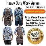 Luxury Waxed Canvas Shop Apron   Heavy Duty Work