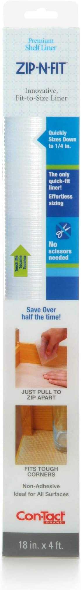 2 DUCK Brank Clear Grip Non Adhesive Liner Shelf Liner Drawer Liner 4 SQ FT.