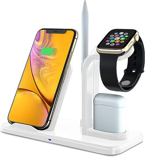 YAYY Soporte Base de Carga para iPhone AirPods Watch,Cargador ...