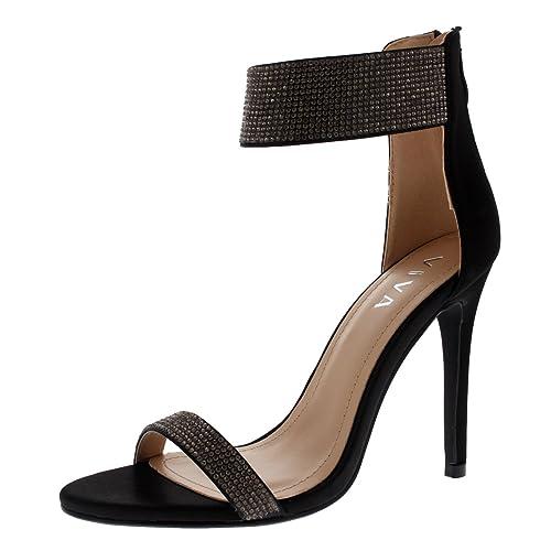 chaussures de séparation b5167 ea790 Viva Femmes Diamante La Mariée A La Cheville Talon Haut Fête Soir Mariage  Talons Hauts