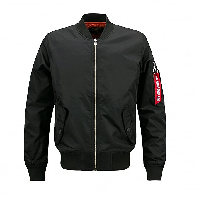 new style & luxury fashion design authorized site Amazon.com: New Spring Pilot Bomber Jacket Men Patch Design ...