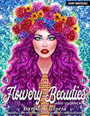 Adult Coloring Book | Flowery Beauties: Stress Relief Coloring Book for Adults with Flowers Patterns and Beaut