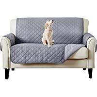 Waterproof Dog Couch Cover,Quilted Sofa Protector Couch Covers for 2 Cushion Couch,Great for Home with Kids and Pets…