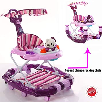 WMYJXD Andador para Bebés Plegable con Freno Andador Bebé Coche ...