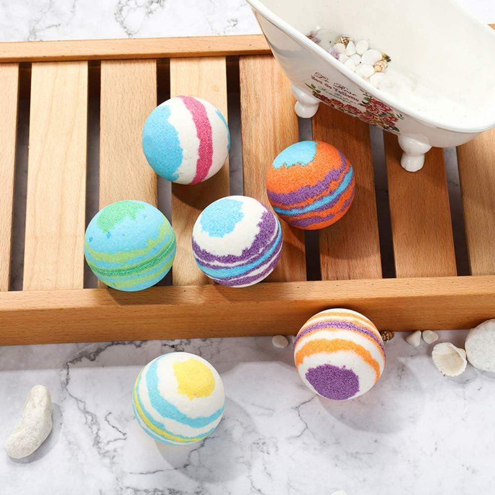 Weixinbuy Set de bolas de sal para baño Exfoliación Limpieza de poros Anti-ácaros Control de aceite Bombas de baño Kit de sales de baño