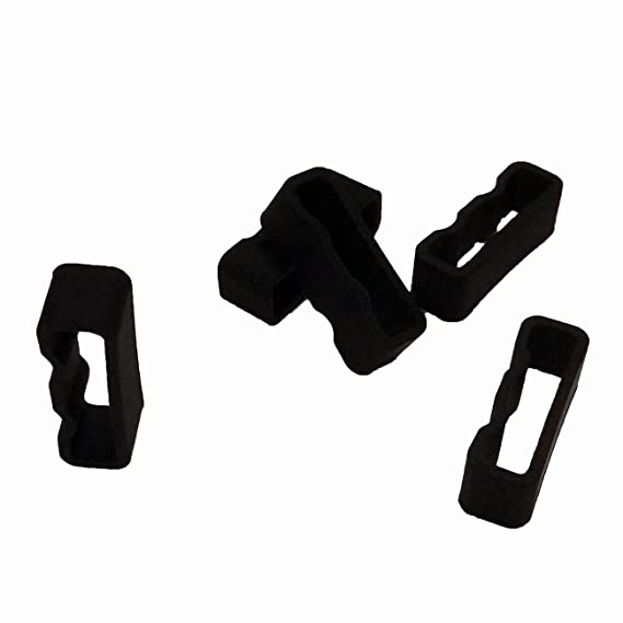 TenCloud 5-Pack Black Replacement Silicone 22mm Watch Band Holder Loop  Keepers Fasteners for Garmin Fenix5/Fenix 5 Plus/Forerunner 935/Quatix