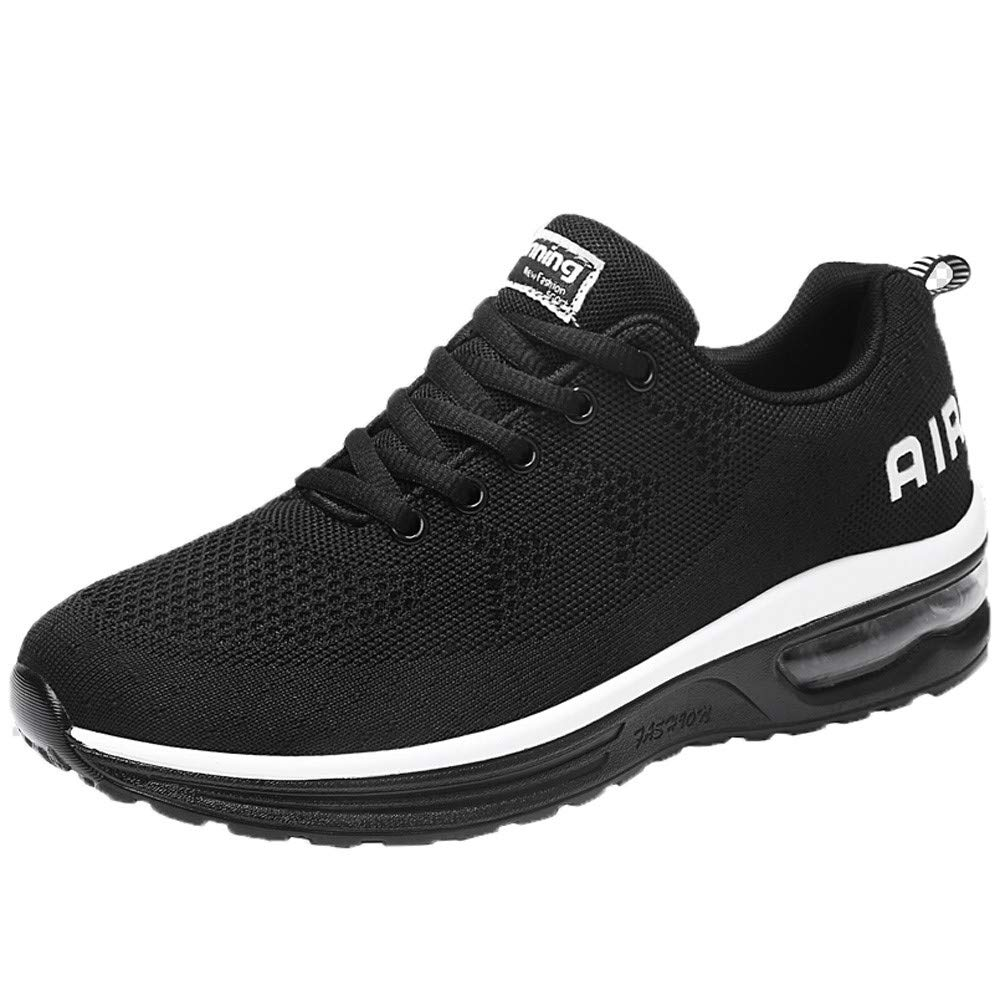 HOSOME Men Lightweight Athletic Running Shoes Breathable Sport Jogging Sneakers Lightweight Running Walking Shoes Black
