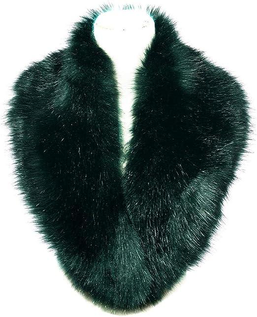 Saferin Mujeres Faux Fur Coat Collar Chal Bufanda Calentador de cuello para la cena de boda de invierno