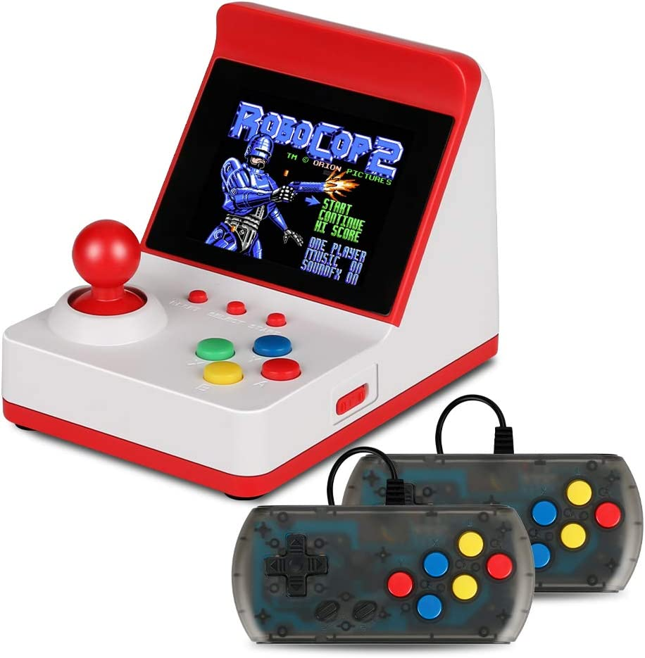 Allnice Mini Arcade Machines Retro Game Console Handheld Game Console with 300 Classic FC Games Speaker Volume Control and Rechargeable Battery Support TV Connecting, Gift for Kids and Adults