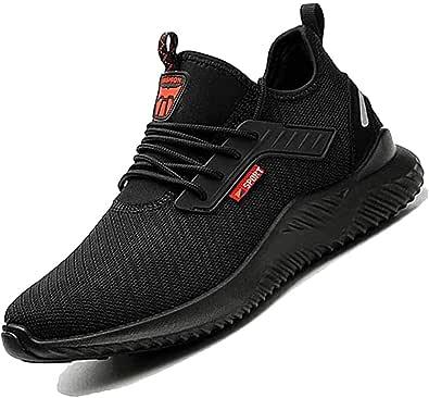 Calzado de seguridad con tapa de acero para hombre y mujer, zapatos de trabajo, transpirables