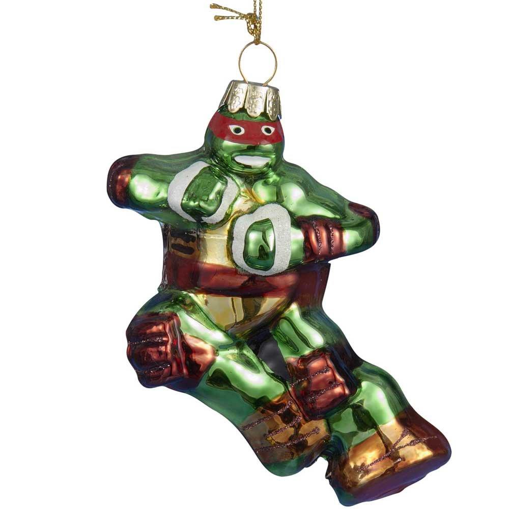 Kurt Adler Glass Teenage Mutant Ninja Turtles Raphael Ornament, 5-Inch