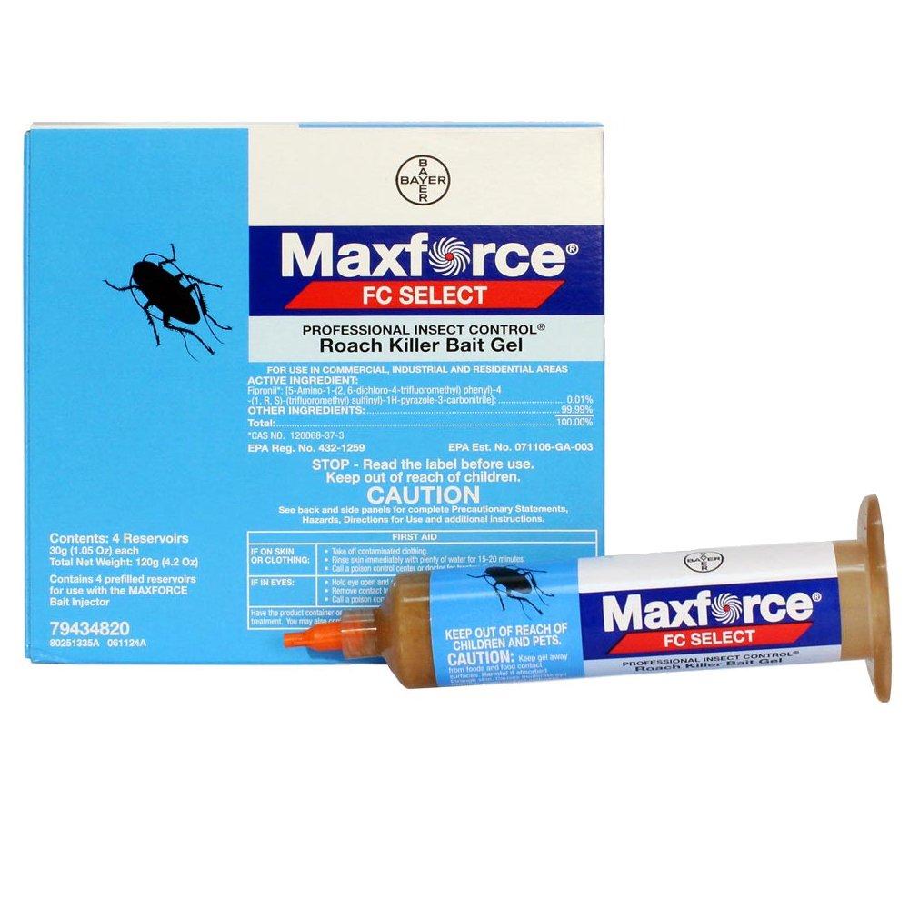 Maxforce FC Select Roach Killer Bait Gel - 1 Box (4 x 30 Gram Tubes)