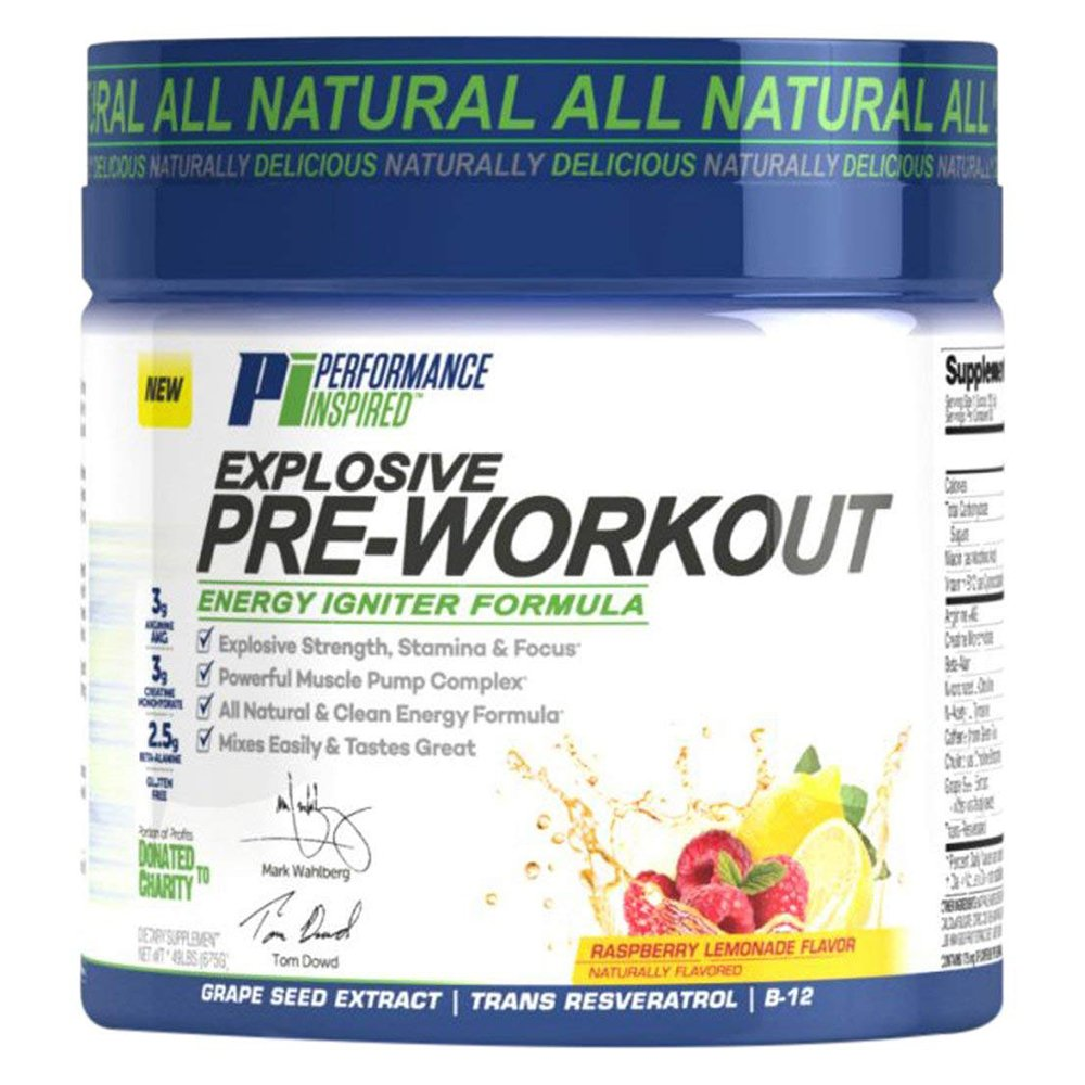 Performance Inspired Nutrition Explosive Pre-Workout, 1.49 lb, Raspberry Lemonade Style PRELEM