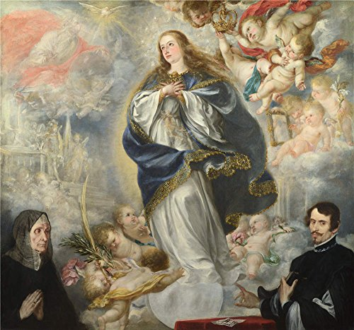 [The Polyster Canvas Of Oil Painting 'Juan De Valdes Leal The Immaculate Conception With Two Donors ' ,size: 10 X 11 Inch / 25 X 27 Cm ,this Cheap But High Quality Art Decorative Art Decorative Canvas Prints Is Fit For Nursery Artwork And Home Decor And] (Donald Duck Costume Makeup)