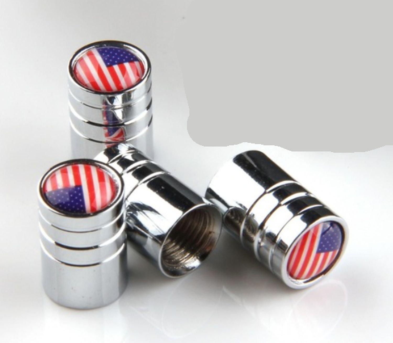 on sale Bouchons de valve États-Unis, argenté, lot de 4capuchons de valve, Wadle Boutique®