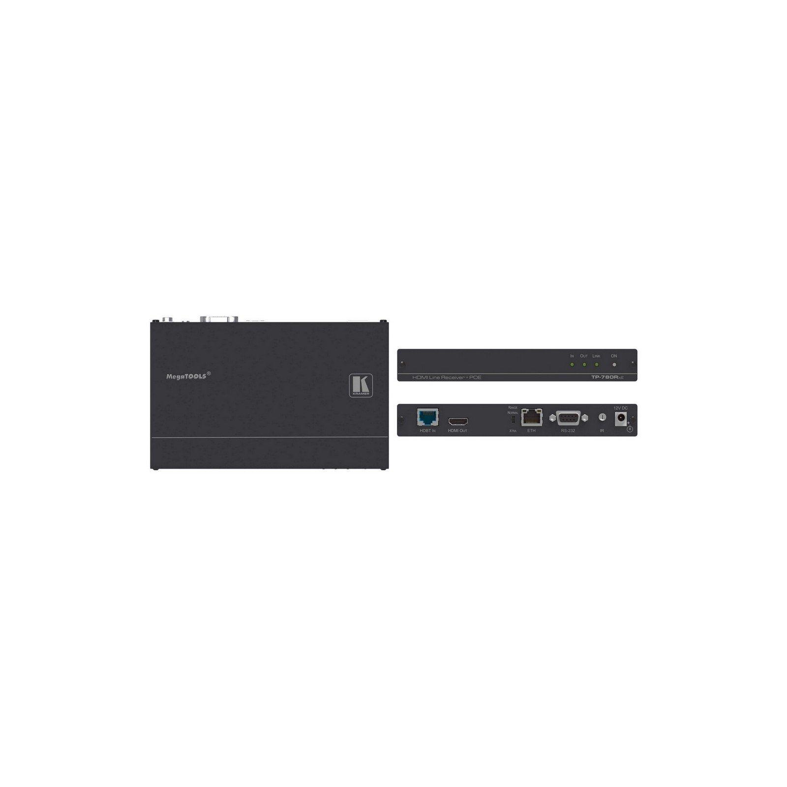 Kramer TP-780RXR   4K60 HDMI HDCP PoE HDBaseT Receiver with Ethernet