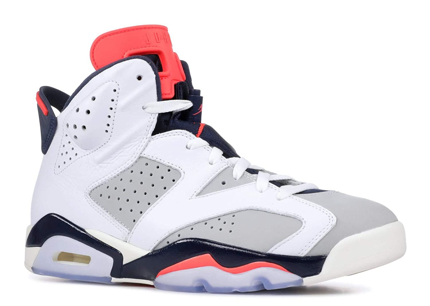 to buy 86728 2db75 Nike Jordan Retro 6 - Men's (10, White/Infrared 23/Neutral Grey/White/Sail)
