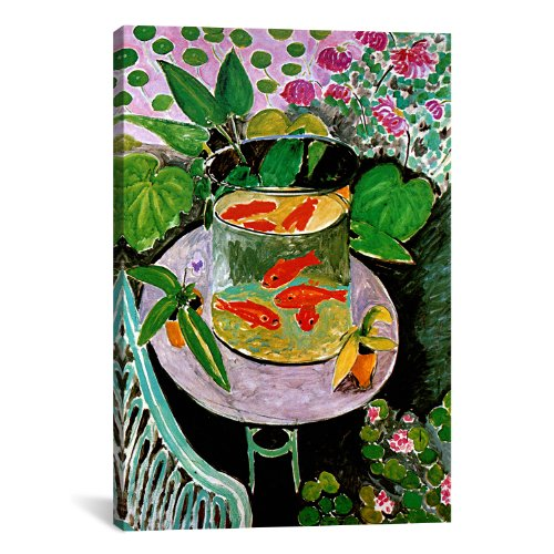 Icanvasart The Goldfish by Henri Matisse Canvas Art Print
