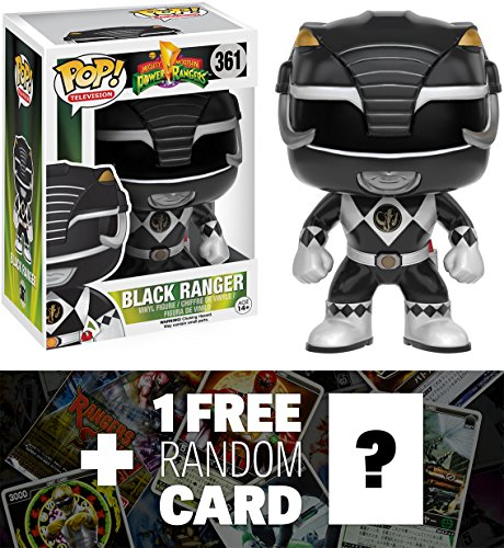 Black Ranger: Funko POP! x Power Rangers Vinyl Figure + 1 FREE Official Japanese Super Sentai Trading Card Bundle (103091)