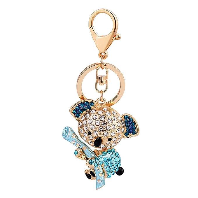 Amazon.com: Llavero con diseño de oso Koala con diamantes de ...