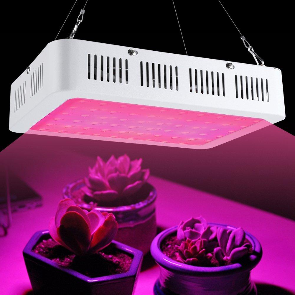 Zerone Lampe de Croissance Plante 600W LED Lampe Horticole Grow Light avec Un Panneau IR Lumi/ère de Croissance Floraison pour Plantes Fleurs L/égumes Int/érieur