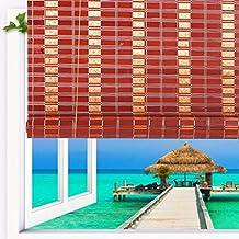 """Natural Bamboo Roll Up Window Blind Roman Sun Shade WB-SUN3201 (W42""""XH72"""")"""
