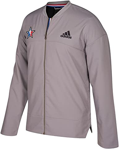 trabajo Duque instinto  Amazon.com : adidas All Star NBA Grey 2017 Official Authentic On-Court Full  Zip Jacket for Men (M) : Clothing