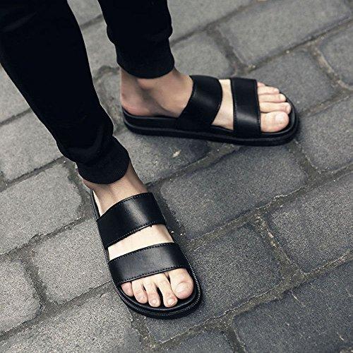 Nero sandali uomini da degli scarpe WFL spiaggia suola uomo spessa pantofole trascinare degli uomo parola da uomo con estate da antiscivolo da Pantofole uomini usura marea w4qF8