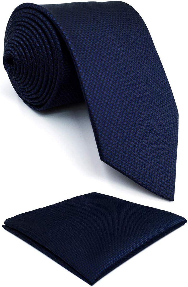 shlax/&wing Cravatta Tinta Unita Blu Navy Seta da uomo Seta Navy