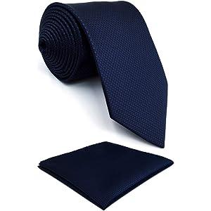 shlax&wing Color Sólido Navy Corbatas Para Hombre Azul Traje de ...