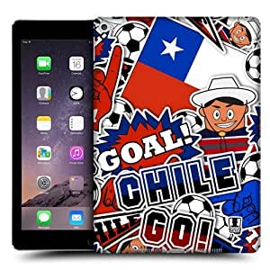 Head Case Designs Chile Football Country Icons Protective Snap-on Hard Back Case Cover for Apple iPad Air 2