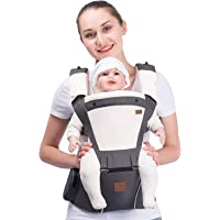 Bebamour Soft Style Designer Baby Carrier and Baby Sling Carrier 2 in 1 (Grey)