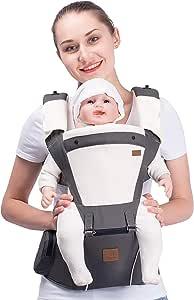 Bebamour Designer Sling and Baby Carrier 2 in 1 (Grey)