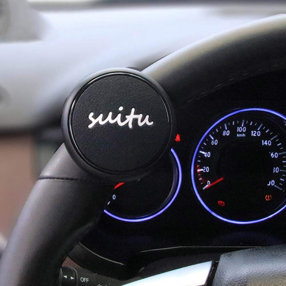 Watchwe Universal Car Steering Wheel Booster Ball Knob Wheel Booster Ball Booster Auto Car Styling Handle Control Spinner Suministros para autom/óviles