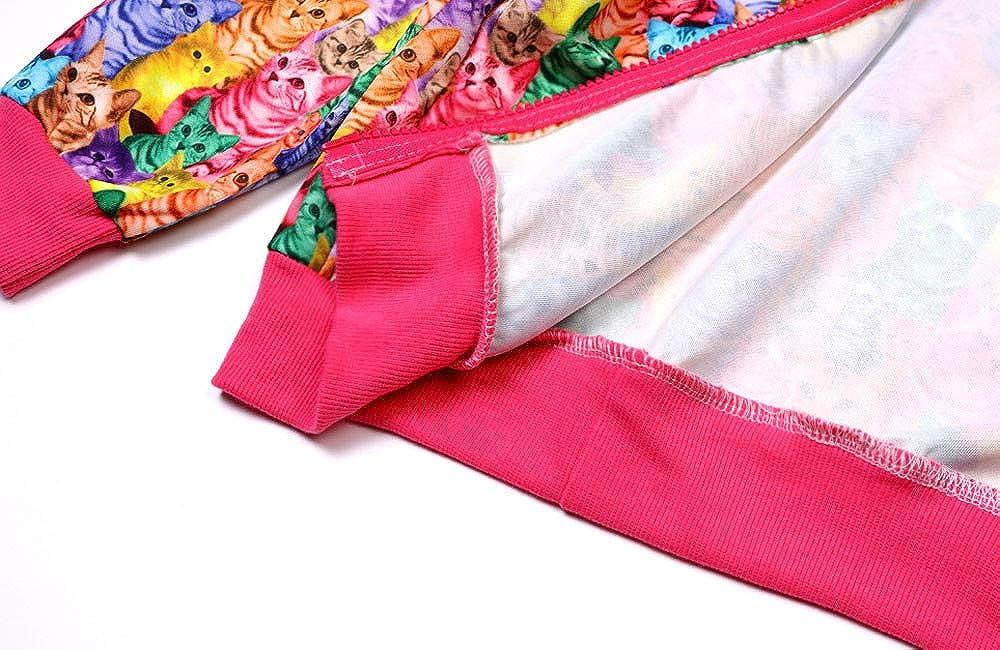 KONFA Teen Toddler Baby Girls Boys Cats Dogs Print Hoodie Pullover,Kids Zipper Jacket Tops Hooded Coat Autumn Clothing Set