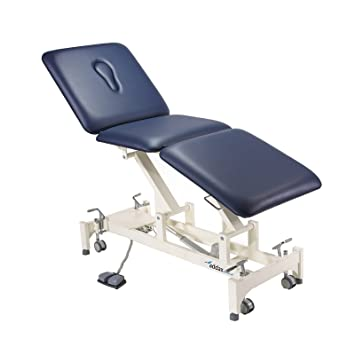 Astonishing Addax Hydraulic Treatment Couch 3 Sections Blue Physiotherapy Osteopathy Pabps2019 Chair Design Images Pabps2019Com