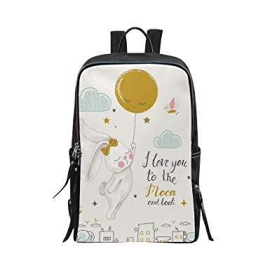 7598e6bdf55b Amazon.com | InterestPrint Unisex School Bag Casual Shoulders ...
