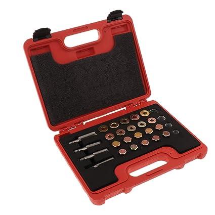 Flameer 64pc Oil Pan Thread Repair Kit Sump Gearbox Drain