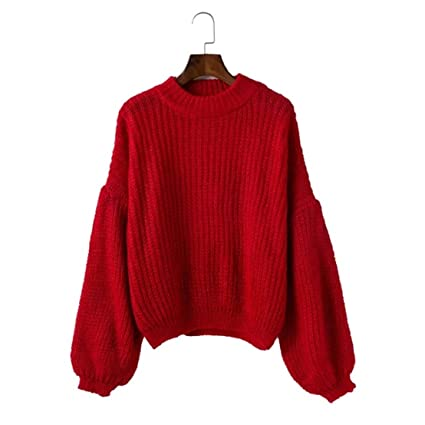 efdfda6647 Amazon.com  UNKE Simplee Women s Casual Long Sleeve Loose Pullover Knit  Sweater Jumper Top