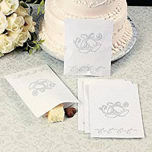 wedding cake bags for guests lot of 50 wedding bell paper cake bags 8566