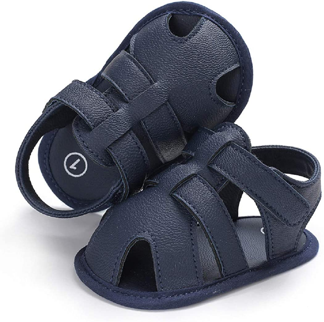   Tcesud Newborn Baby Girls Boys Infant Sandals Shoes Soft Sole Closed-Toe Casual Outdoor First Walkers Crib Shoes   Sandals