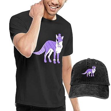 Amazon Com Sir Fox Men S Classic Cotton Crewneck T Shirt Hat
