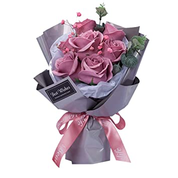 Dried Flower Bouquet Artificial Paper Fancy Soap Rose Flower With