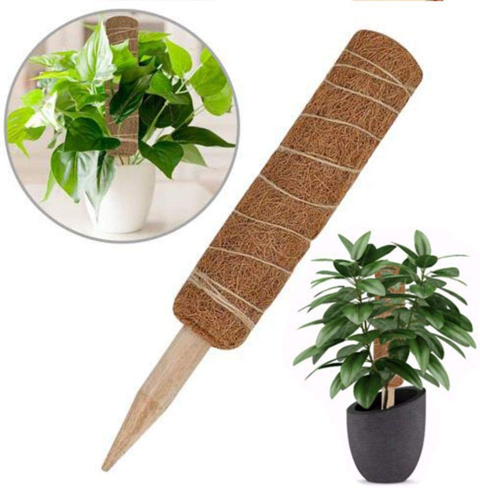 """1pcs 12/""""Coir Moss Totem Pole Coir Moss Stick for Plant Support Extension Creeper"""