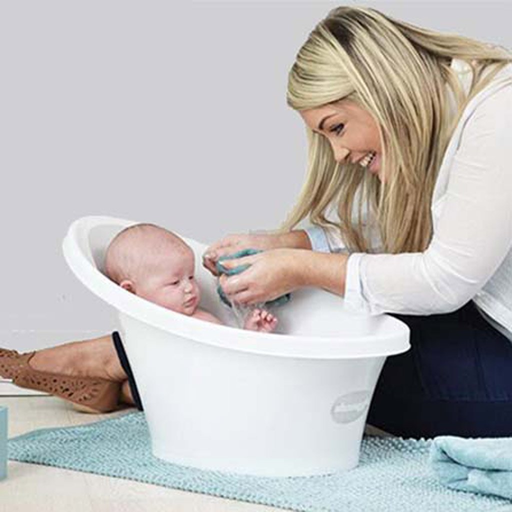 shnuggle cosy bath tub with bum bump support and foam backrest ebay. Black Bedroom Furniture Sets. Home Design Ideas