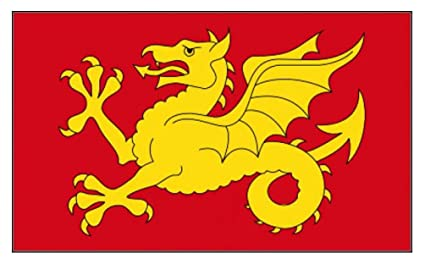 150cm x 90cm Flag White Dragon Of England 5ft x 3ft