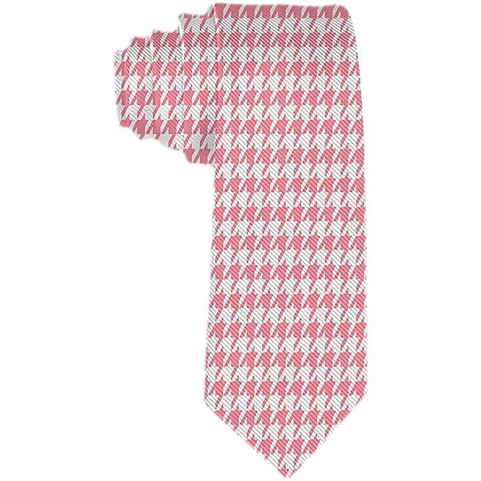 Patrón de corte de papel rosa para hombre Azulejo Corbata de ...