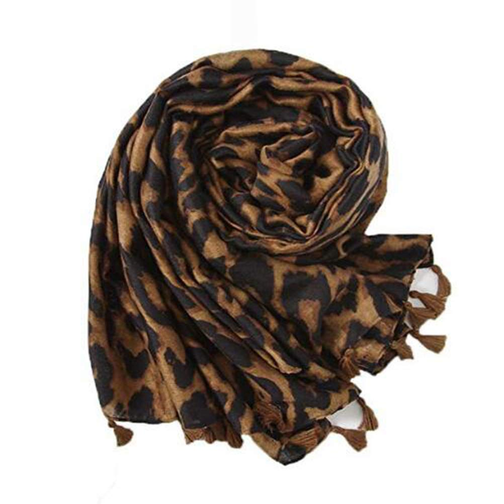 Mujer Ropa Estampado De Leopardo Pashmina Mantón Bufanda Clásico La Moda Borla Suave Mantener Caliente Envolver Mantón Babero,B SSYY